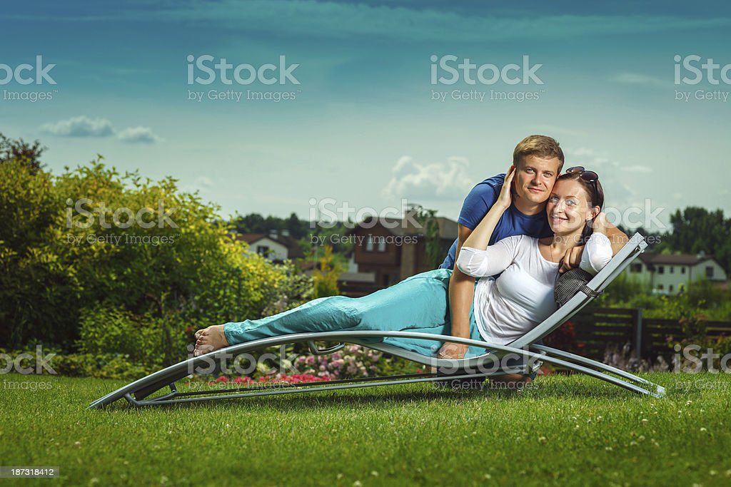 Young couple ejoying holidays royalty-free stock photo