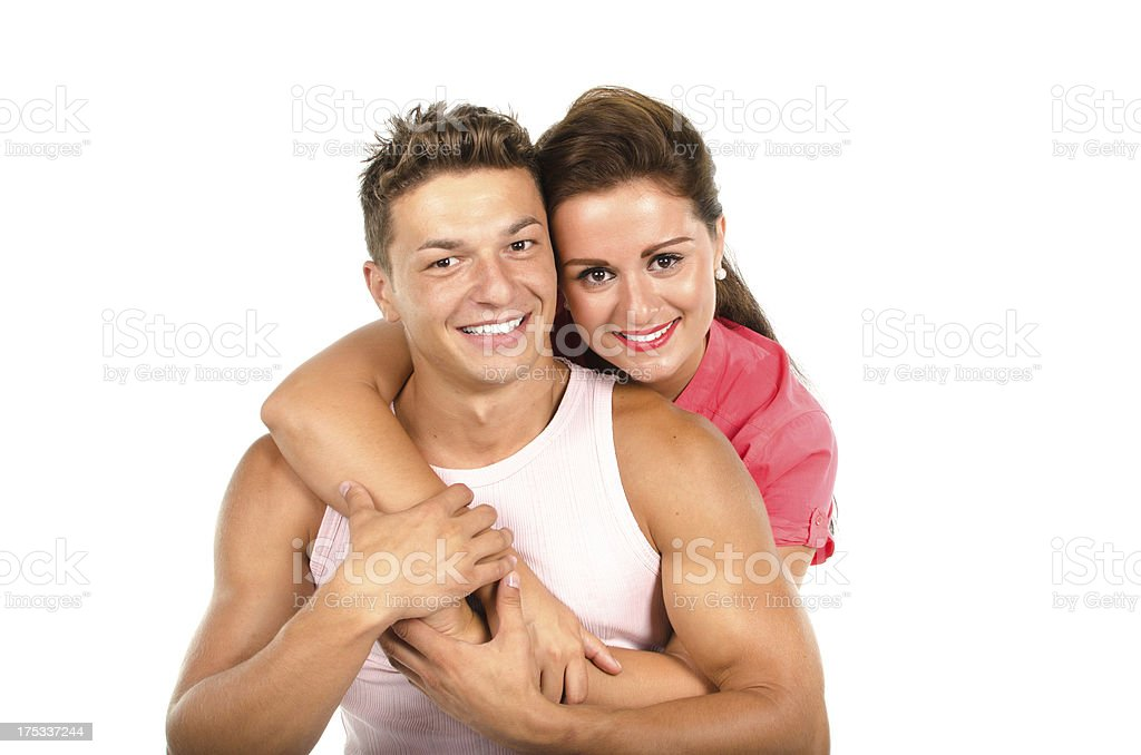 Young couple embracing royalty-free stock photo