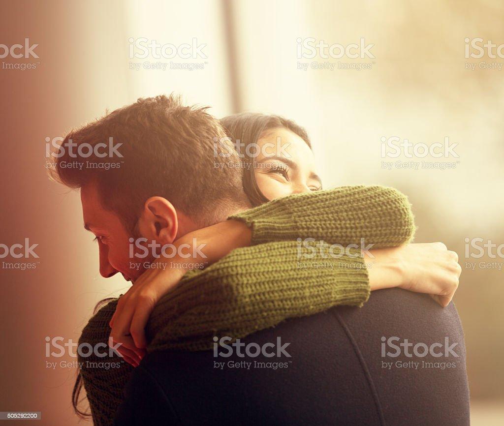 Young Couple Embracing - Royalty-free 20-24 Yaş Stok görsel