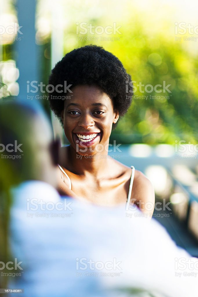 Young couple enjoying a moment royalty-free stock photo