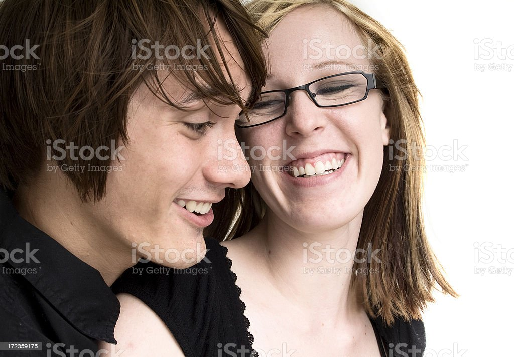 Young couple enjoying each other royalty-free stock photo