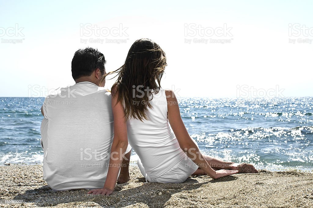 Young couple facing the future together royalty-free stock photo