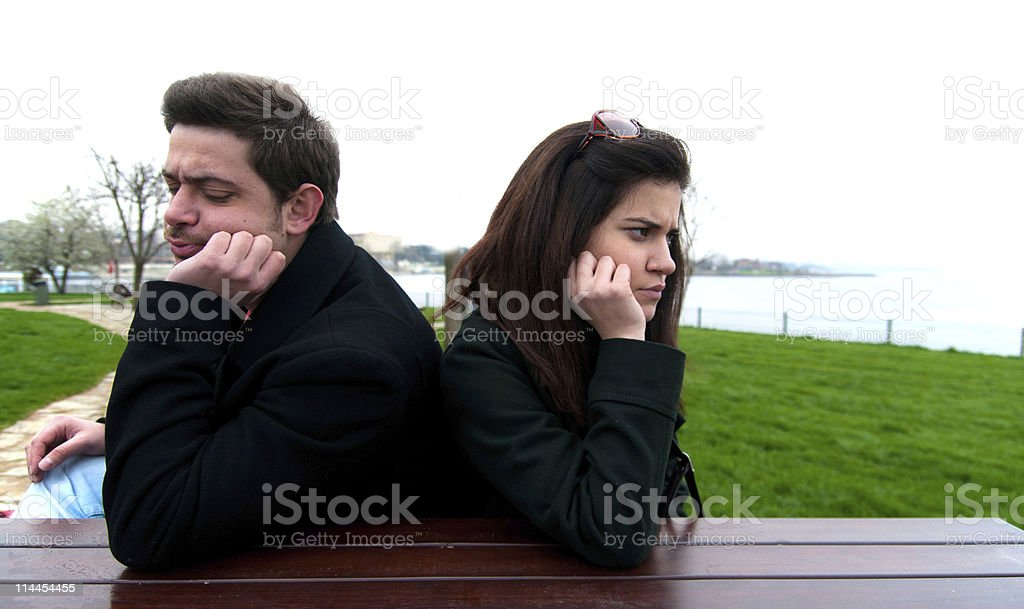 Young couple facing with relationship difficulties royalty-free stock photo