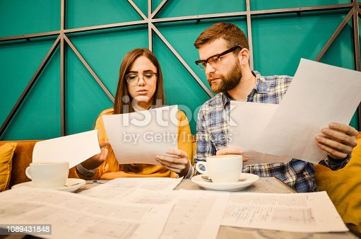 istock Young couple feel angry and get divorced try to make a deal 1089431848