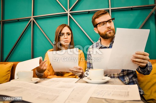 istock Young couple feel angry and get divorced try to make a deal 1089434984