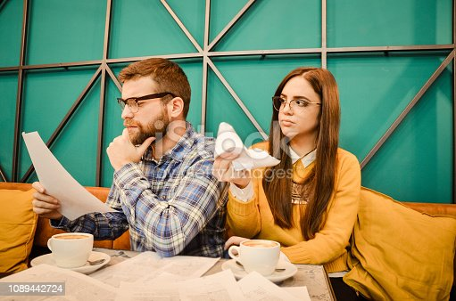 istock Young couple feel angry and get divorced try to make a deal 1089442724