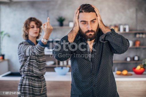 680695520istockphoto Young couple fighting 1181214135