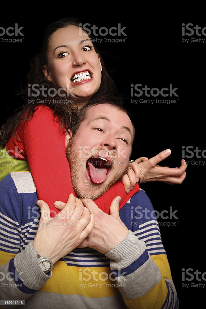 young couple fighting royalty-free stock photo
