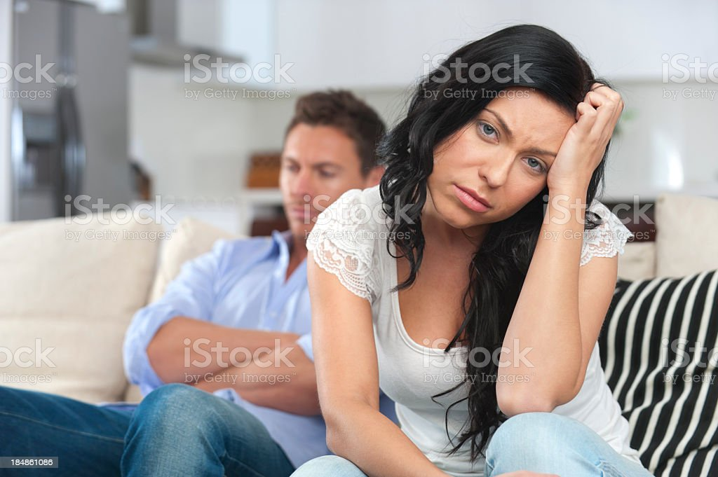 Young couple fighting stock photo