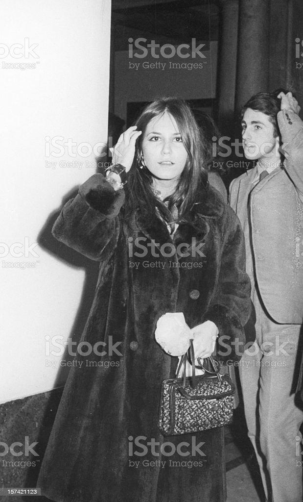 Junges Paar von der Sixties.Black und weiß – Foto