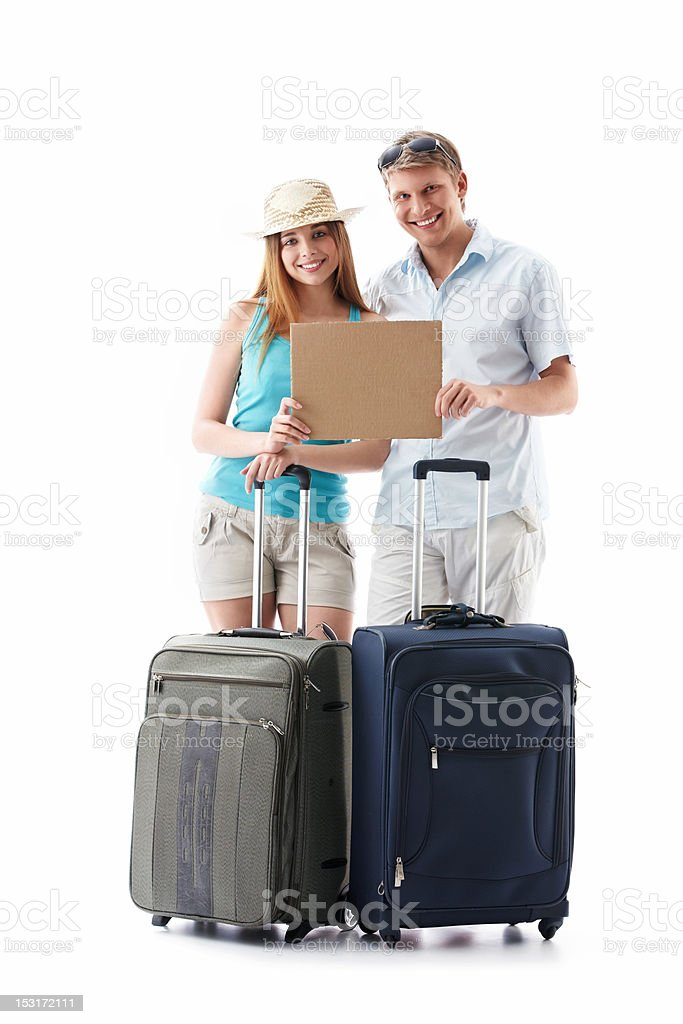 Young couple goes on vacation royalty-free stock photo