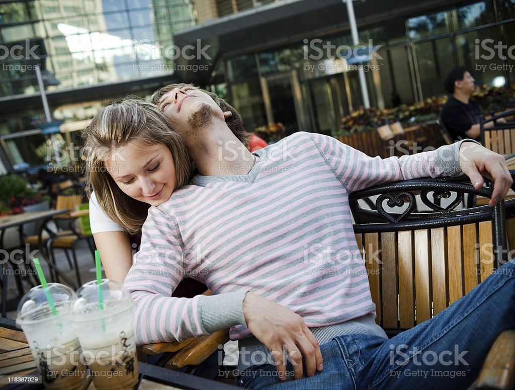 Young couple happy together royalty-free stock photo