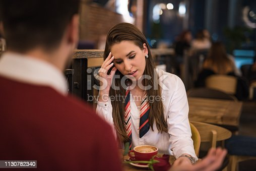 520496686istockphoto Young couple having a conflict. 1130782340