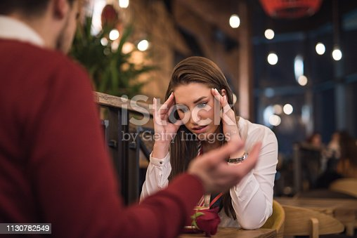 520496686istockphoto Young couple having a conflict. 1130782549