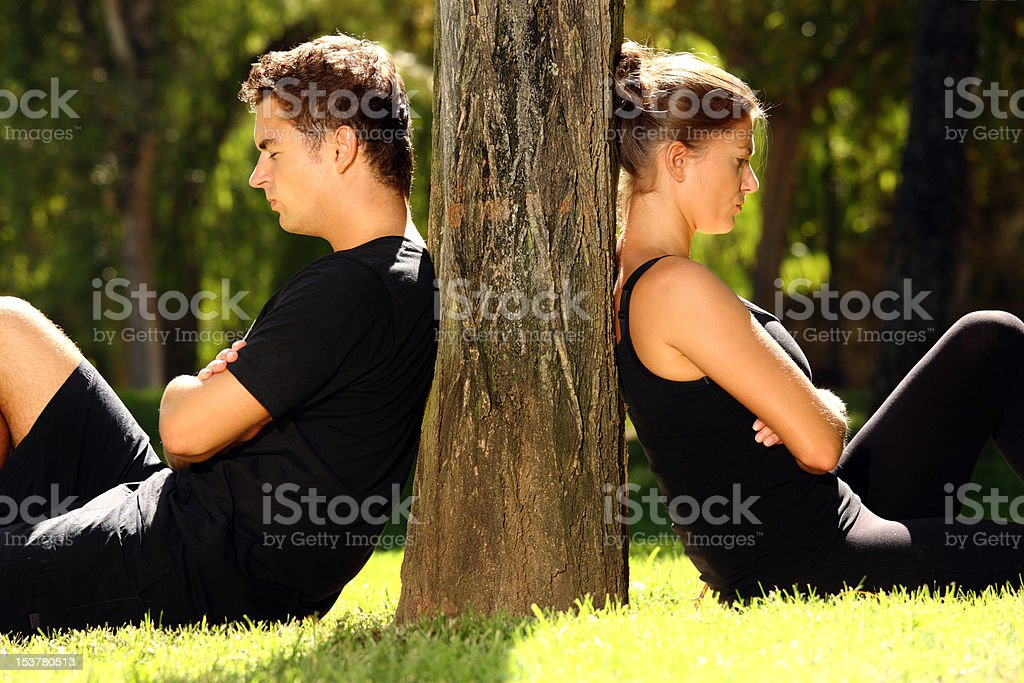 Young couple having a problem royalty-free stock photo