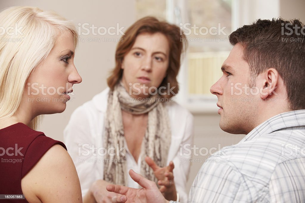 Young Couple Having Counselling Session royalty-free stock photo