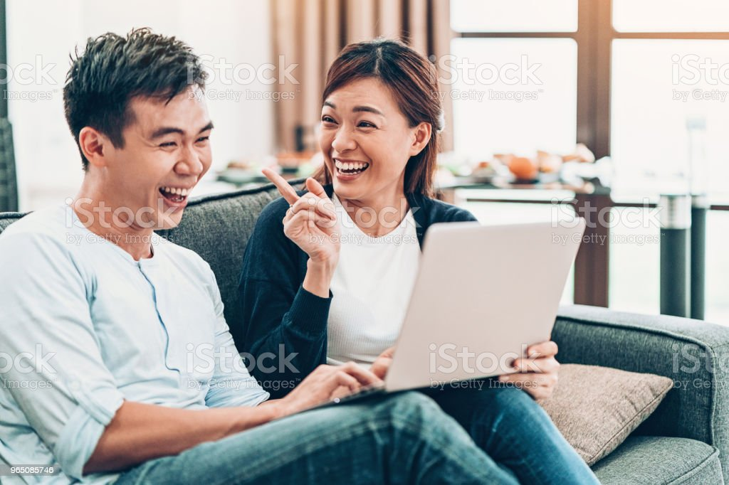 Young couple having fun at home royalty-free stock photo