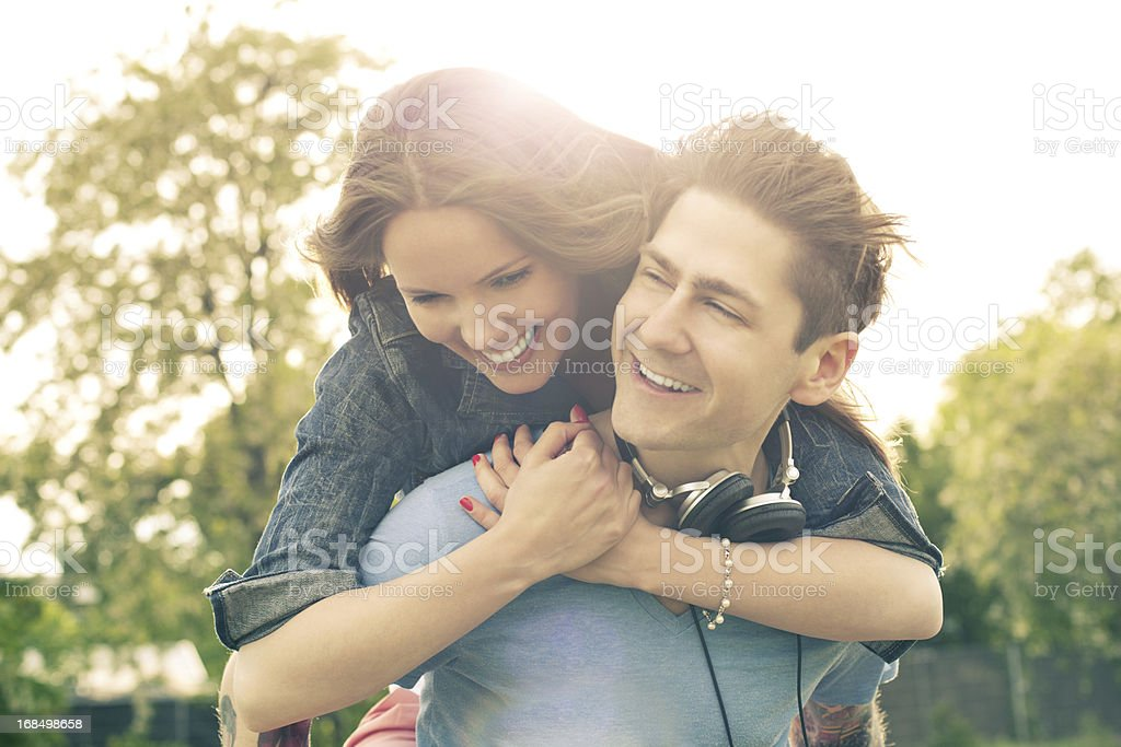 Young couple hugging royalty-free stock photo