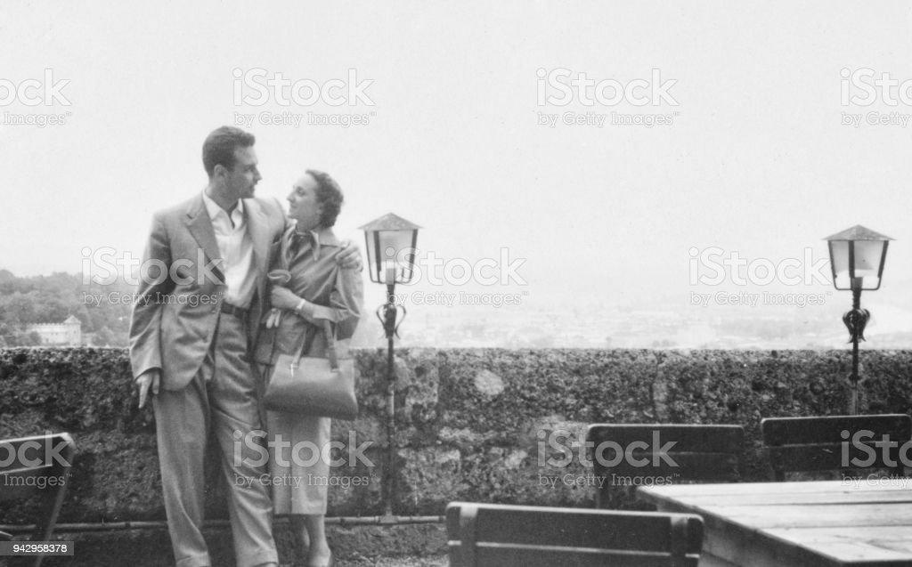 Jeune couple en 1950 - Photo