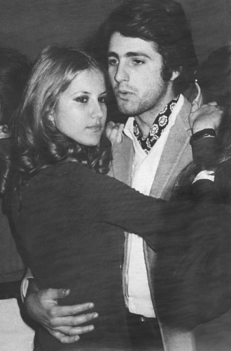 Happy young couple in 1970