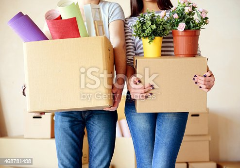 istock young couple in a new apartment with boxes for moving 468781438