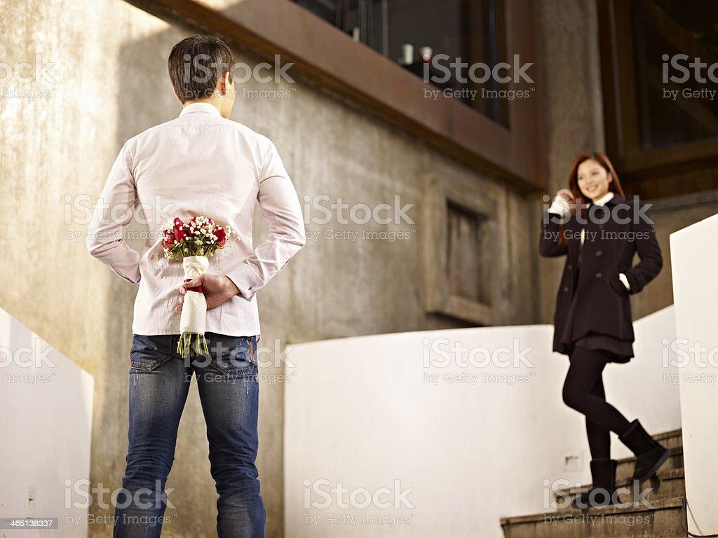 若い男性と女性に愛 ストックフォト
