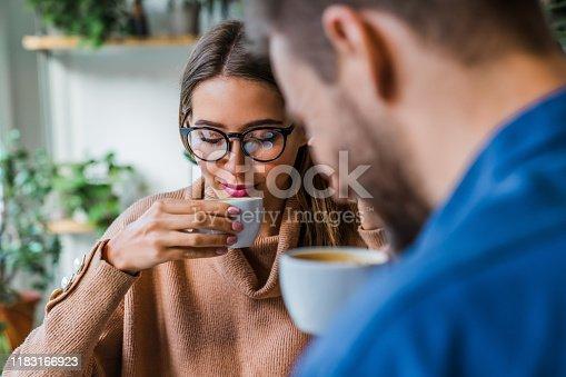 Coffee Shop, Coffee Break, Smiling, Two People, Drink