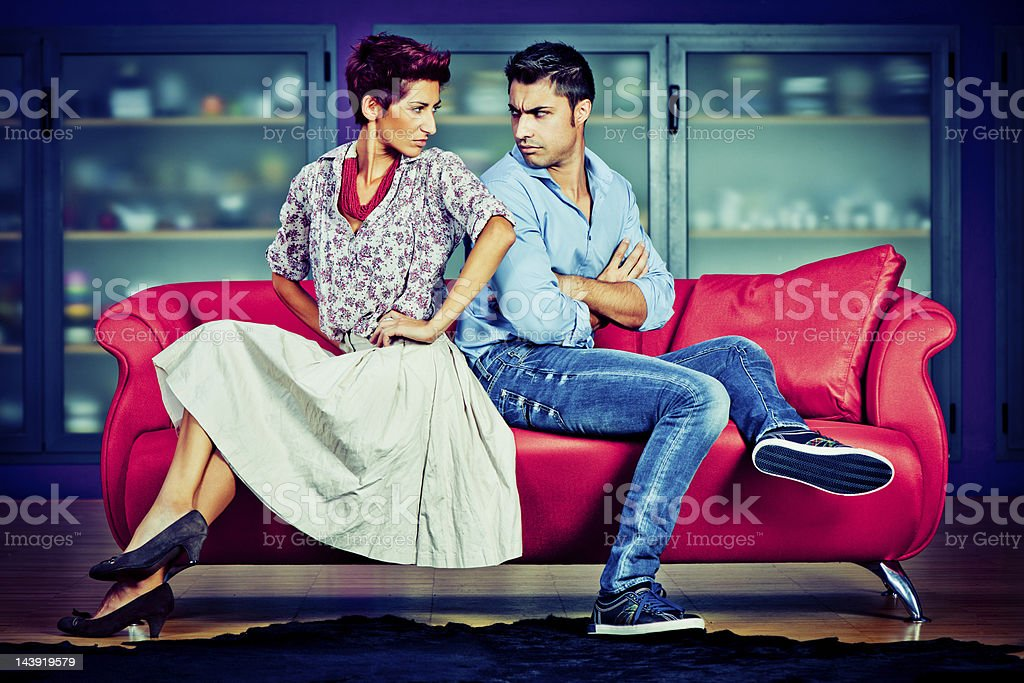 Young couple in conflict royalty-free stock photo