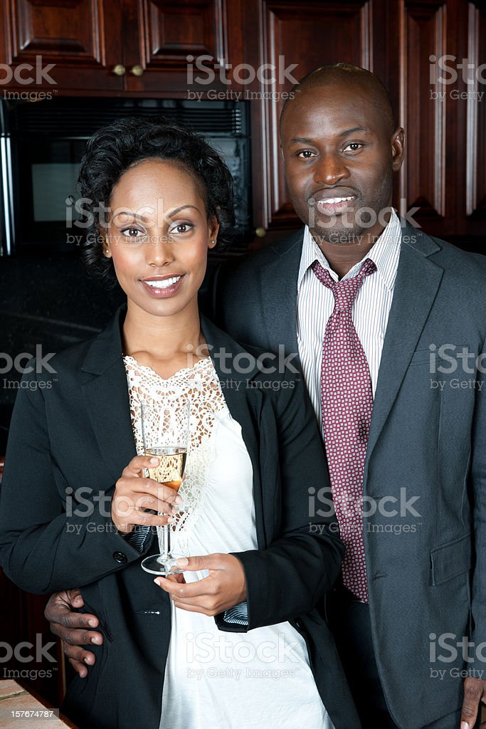 Young Couple in kitchen royalty-free stock photo