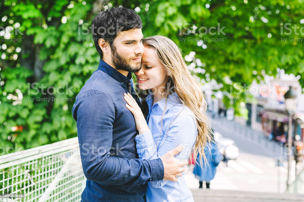 Young Couple in Love Admiring Each Other stock photo