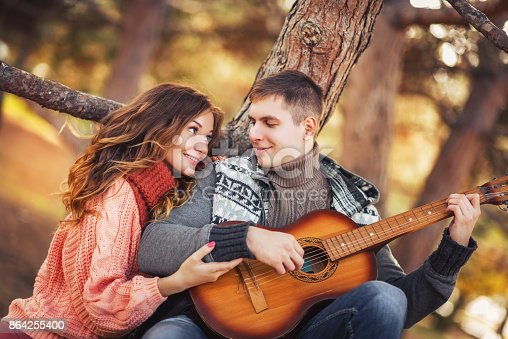 Young Couple In Love Outdoor Stock Photo & More Pictures of Adult