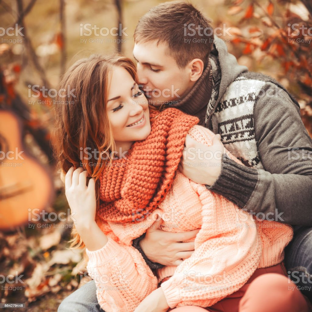 Young couple in love outdoor royalty-free stock photo