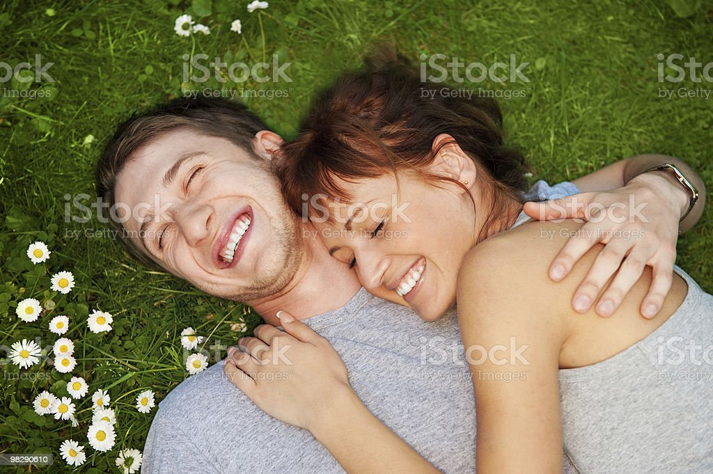 Young couple in love outdoors royalty-free stock photo