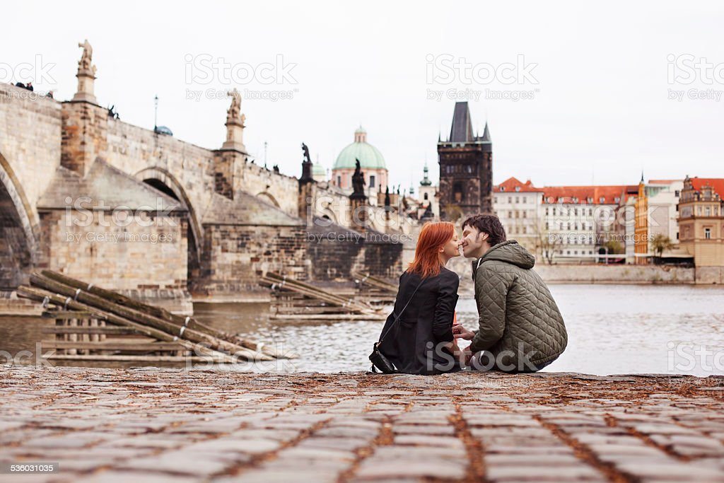 Young couple in love. Prague, Czech Republic, Europe. Young couple in love. Prague, Czech Republic 2015 Stock Photo