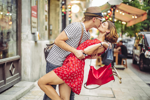 Young couple in the city