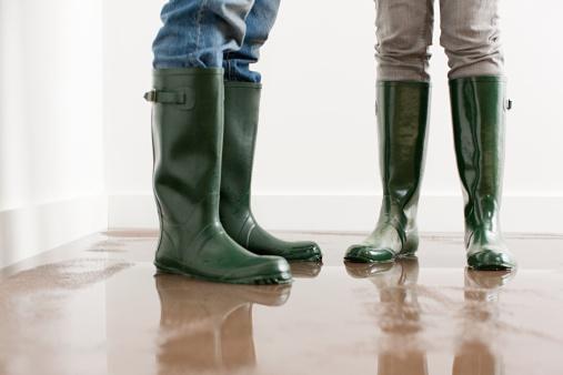 Junges Paar In Wellington Stiefel Für Viel Etage Stockfoto und mehr Bilder von Boden