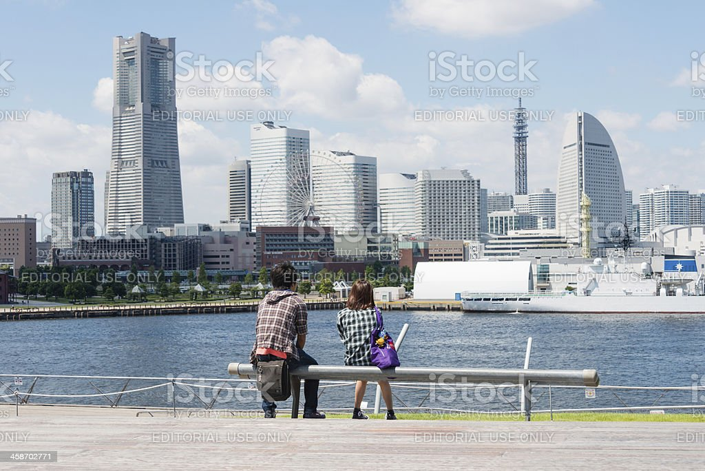 Young couple in Yokohama royalty-free stock photo
