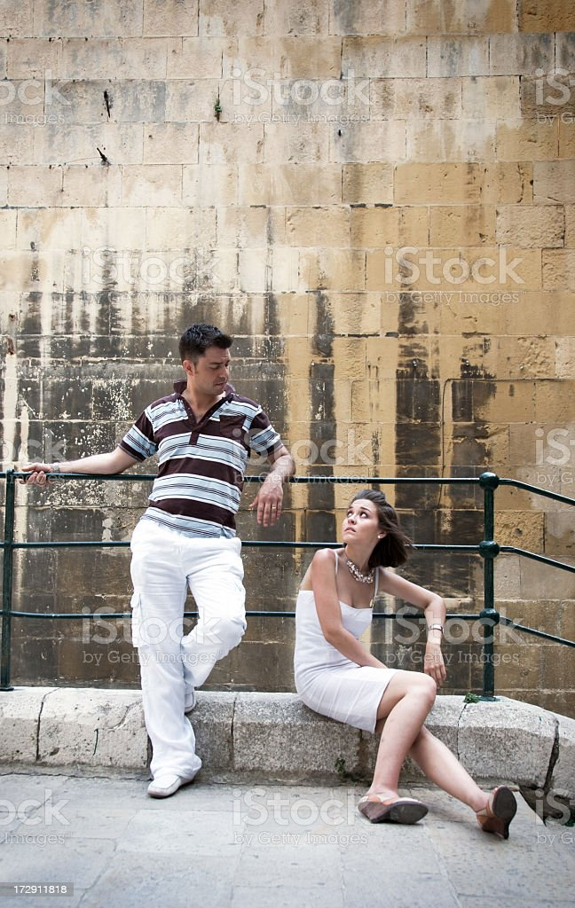 Young Couple looking at each other royalty-free stock photo