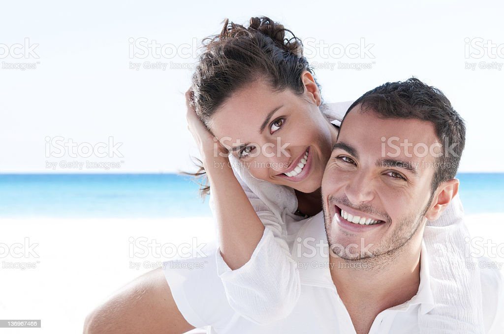 Young couple loving vacation stock photo