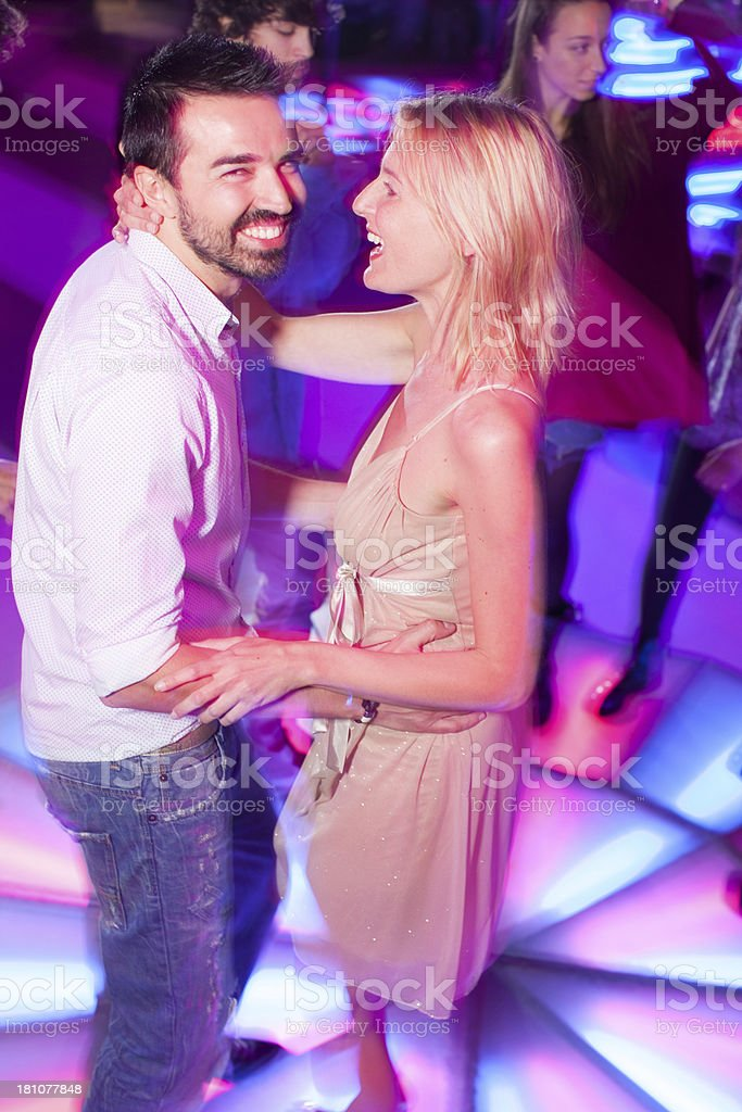 Young couple on a dance floor royalty-free stock photo