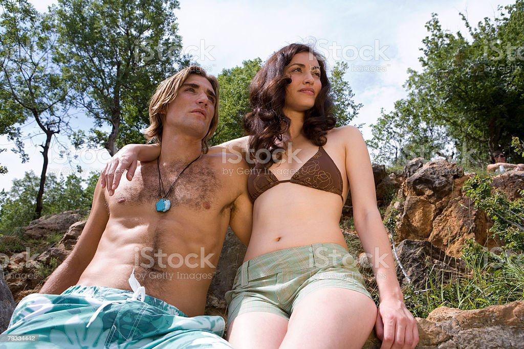 Young couple on a summer vacation 免版稅 stock photo