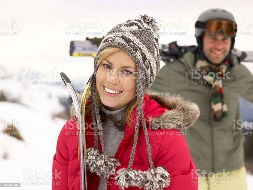 Young Couple On Ski Vacation royalty-free stock photo
