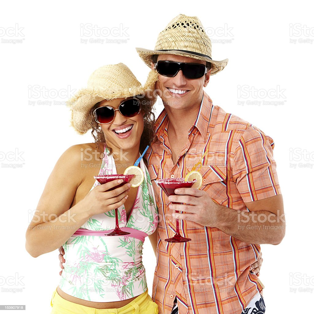 Young Couple on Vacation - Isolated royalty-free stock photo