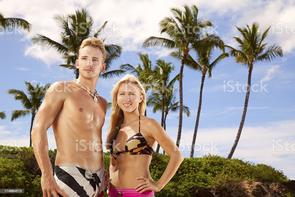 Young Couple On Vacation royalty-free stock photo