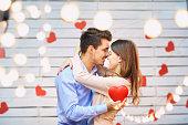 若いカップル バレンタインの日に。