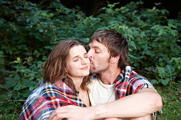 Couple Outside Under The Blanket Pictures Images And Stock Photos