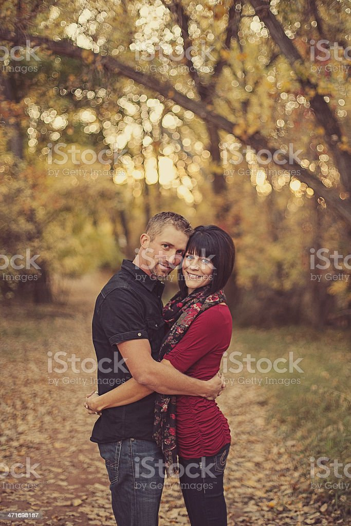 Young Couple Outside royalty-free stock photo