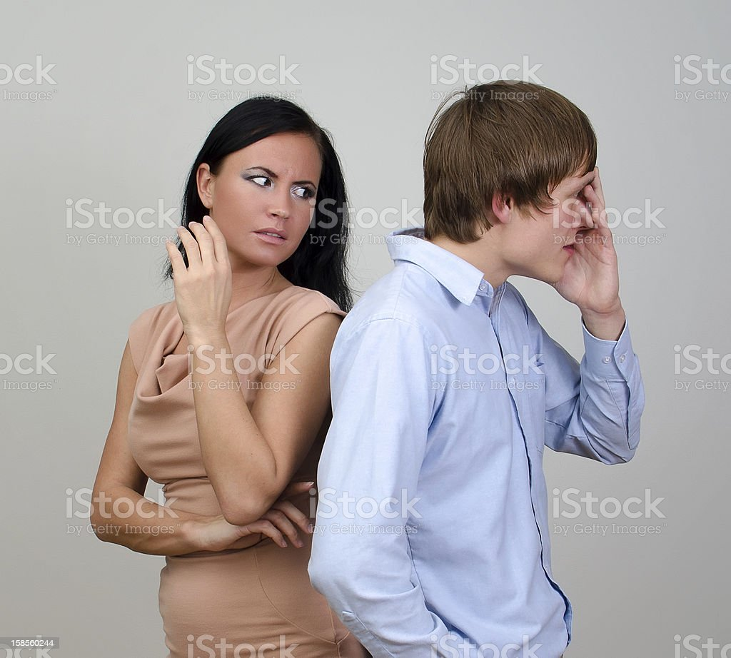 젊은 커플입니다 quarreling. royalty-free 스톡 사진