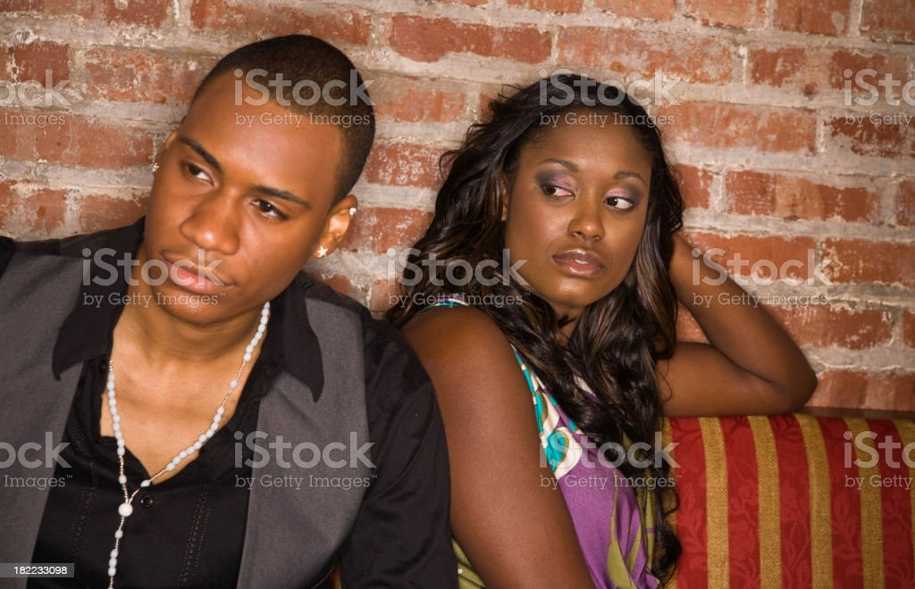Young couple - Relationship Problems [looking away] royalty-free stock photo
