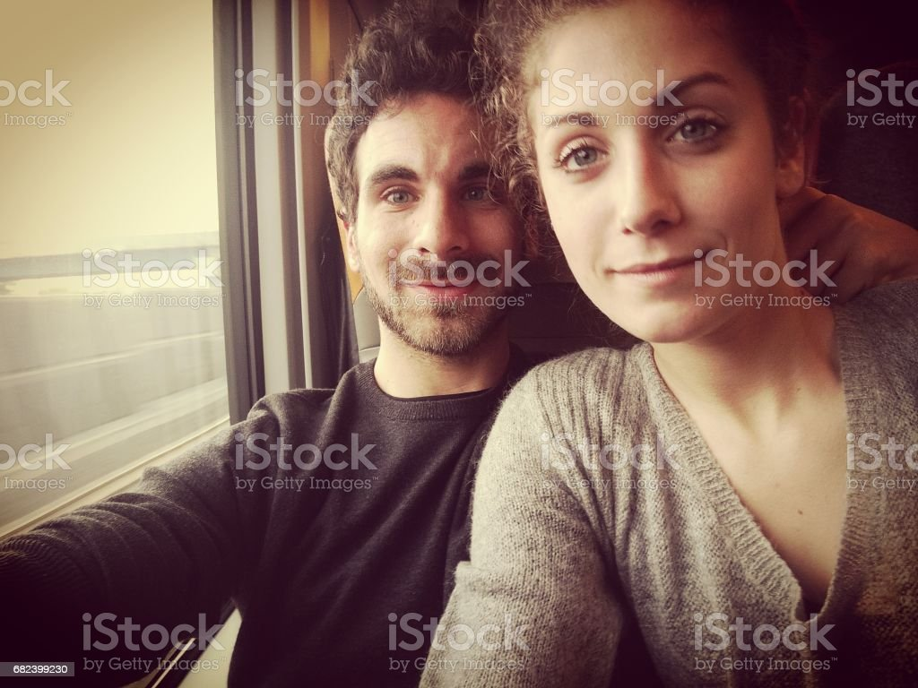Young Couple Selfie royalty-free stock photo